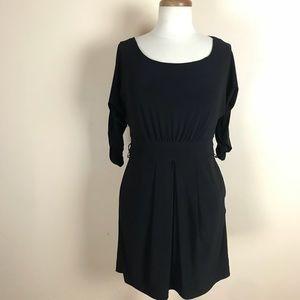 NWT WHBM $98 Black dress 3/4 length stretch